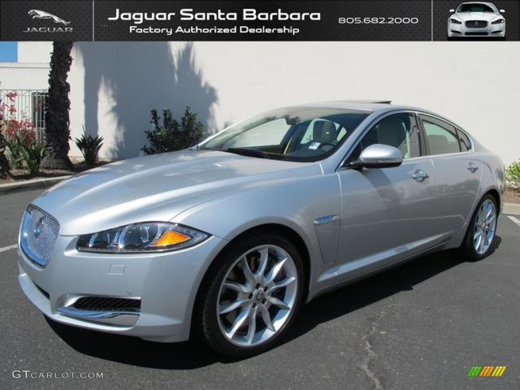 2012 rhodium silver metallic jaguar xf supercharged 69523452 car color galleries. Black Bedroom Furniture Sets. Home Design Ideas