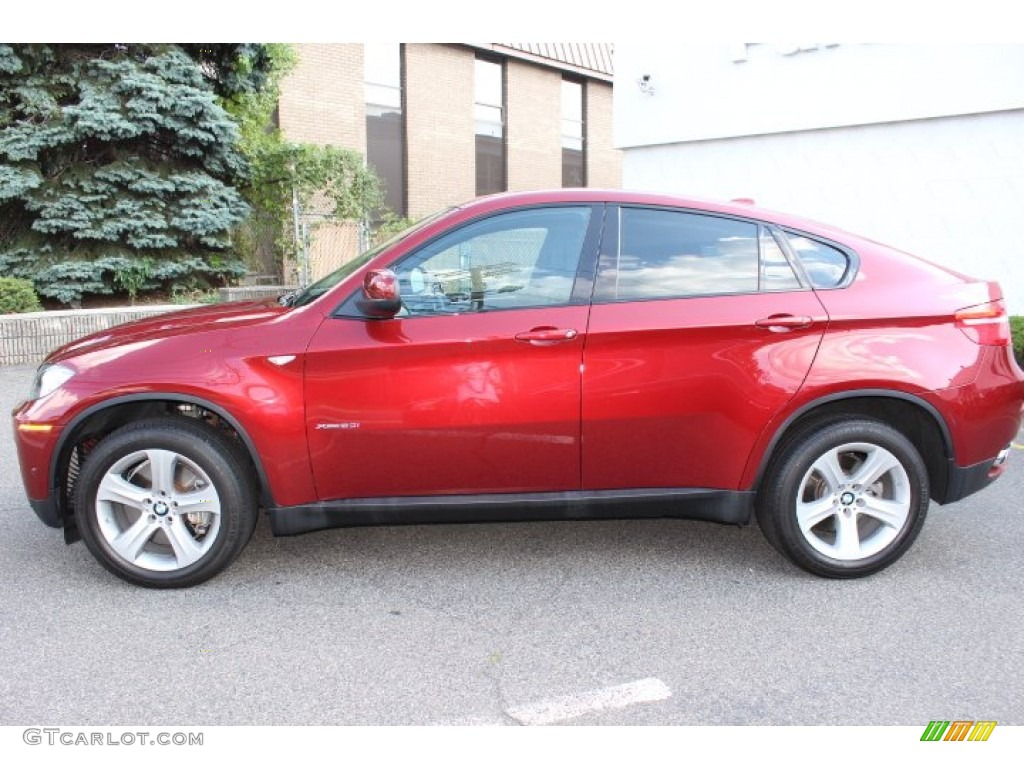 vermillion red metallic 2012 bmw x6 xdrive50i exterior. Black Bedroom Furniture Sets. Home Design Ideas
