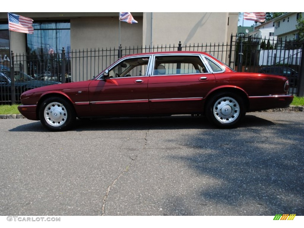 Carnival red 2000 jaguar xj vanden plas exterior photo for Jaguar xj exterior