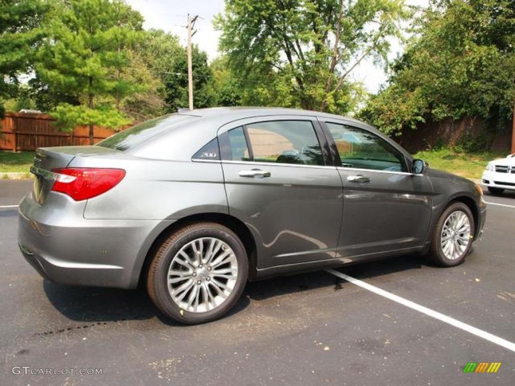 tungsten metallic 2012 chrysler 200 limited sedan exterior. Black Bedroom Furniture Sets. Home Design Ideas