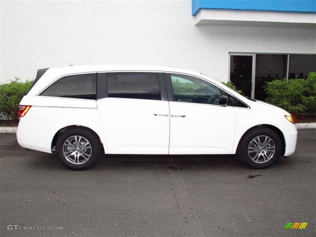 Taffeta White 2012 Honda Odyssey Ex L Exterior Photo