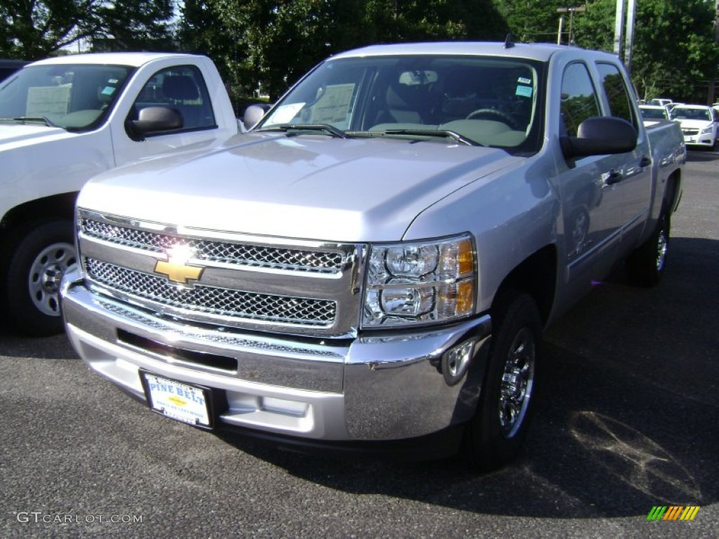 2013 Silverado 1500 LS Crew Cab - Silver Ice Metallic / Dark Titanium photo #1