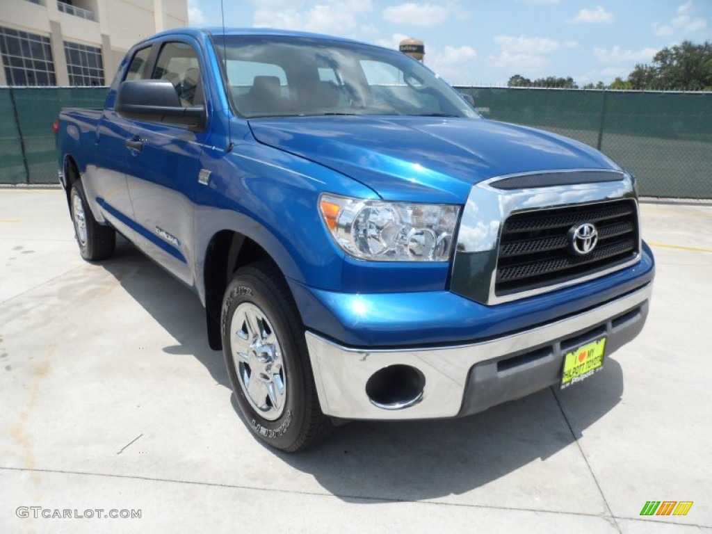 2008 Tundra Double Cab - Blue Streak Metallic / Beige photo #1