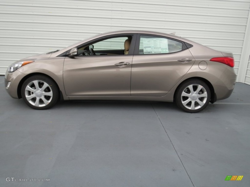 Desert Bronze 2013 Hyundai Elantra Limited Exterior Photo
