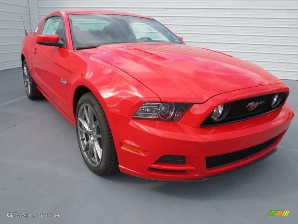 Race Red 2013 Ford Mustang Gt Coupe Exterior Photo