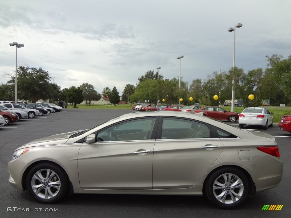 Camel Pearl 2011 Hyundai Sonata Limited Exterior Photo