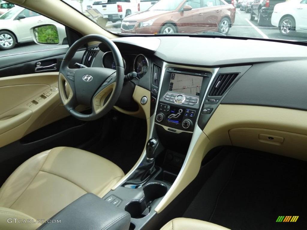 2011 Hyundai Sonata Limited Camel Dashboard Photo