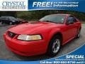 2000 Performance Red Ford Mustang V6 Coupe #69523948