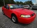 2000 Performance Red Ford Mustang V6 Coupe  photo #10