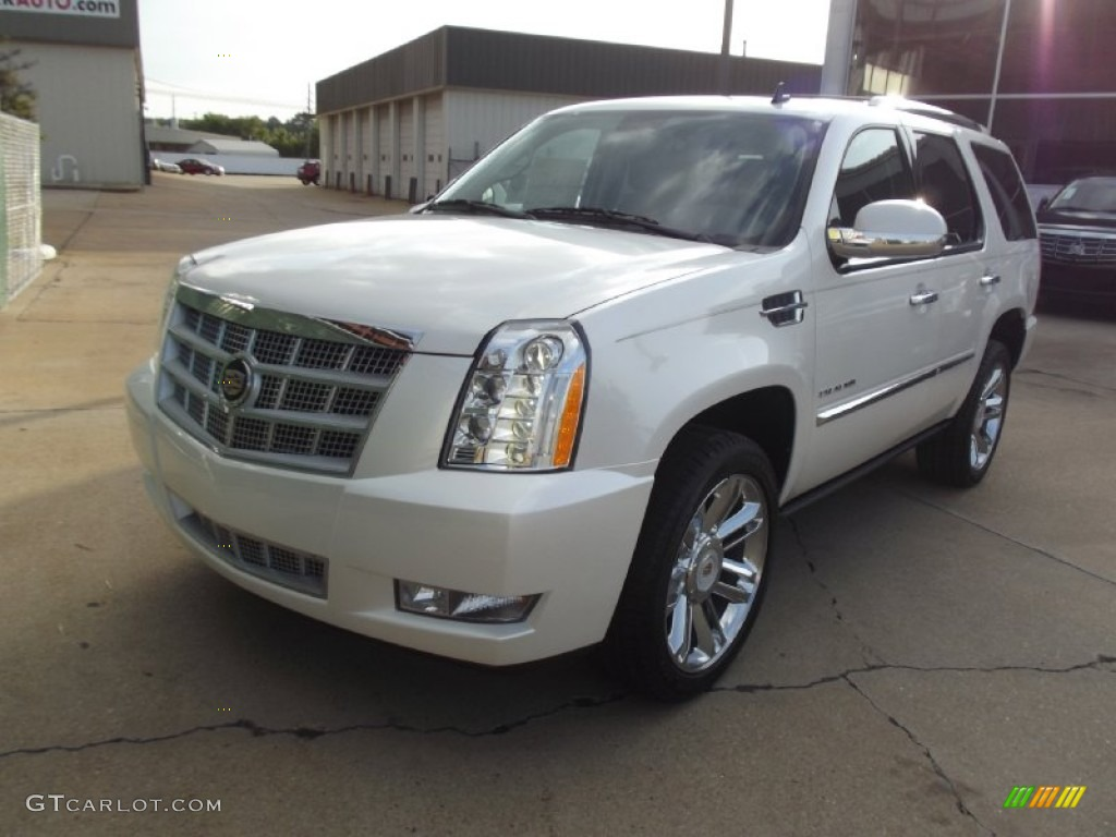 White Diamond Tricoat 2013 Cadillac Escalade Platinum Exterior Photo ...