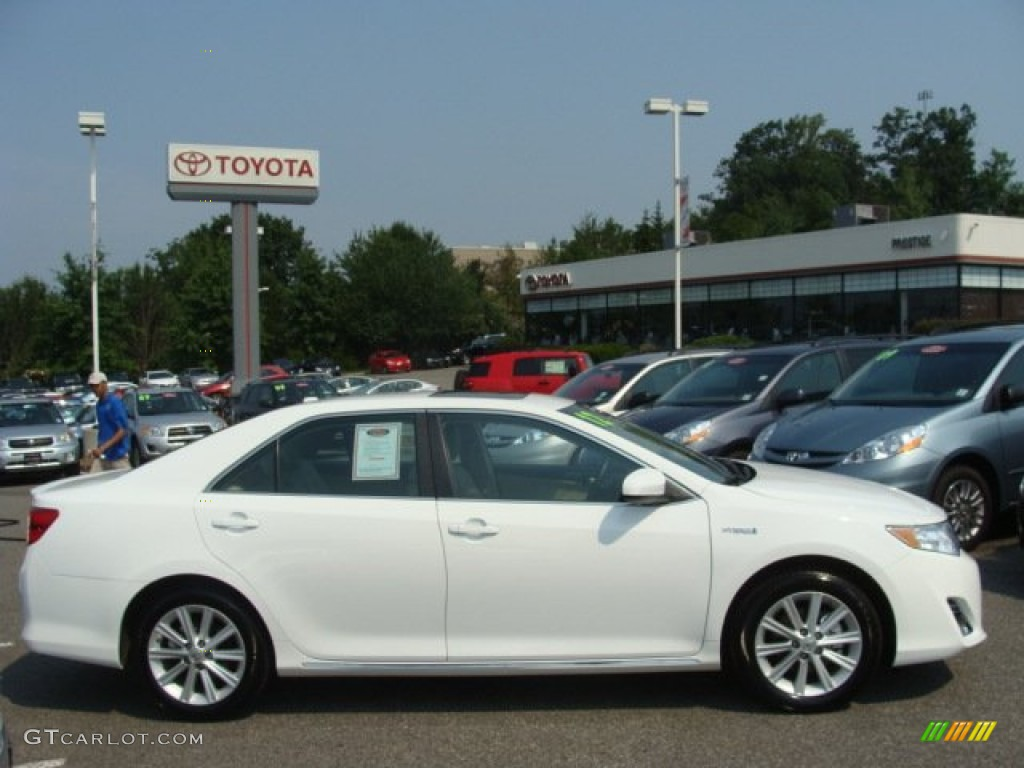 2012 super white toyota camry hybrid xle 69592470 photo 3 gtcarlot com car color galleries