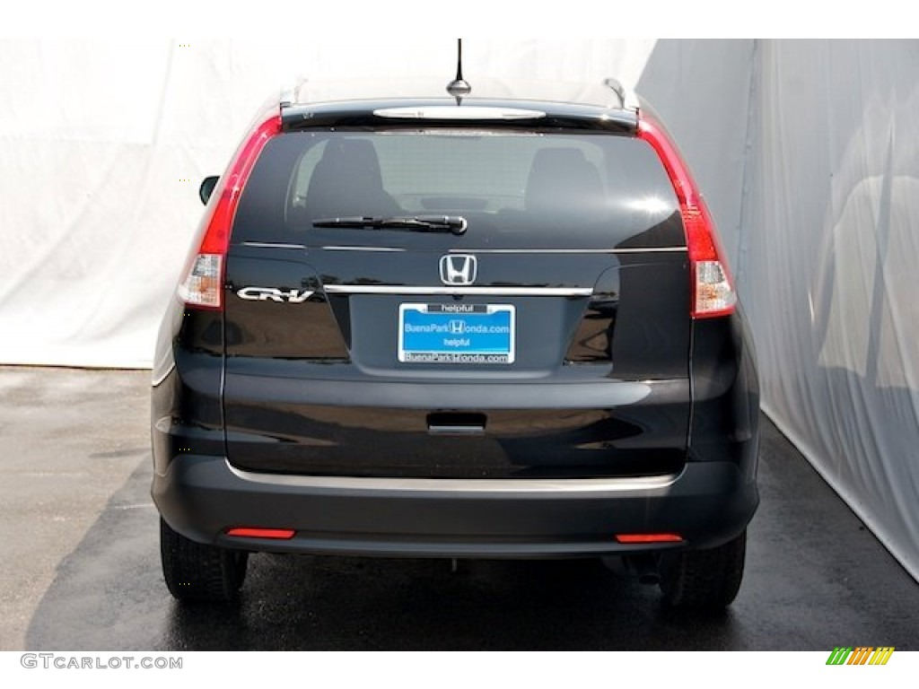 2012 CR-V EX - Crystal Black Pearl / Black photo #6