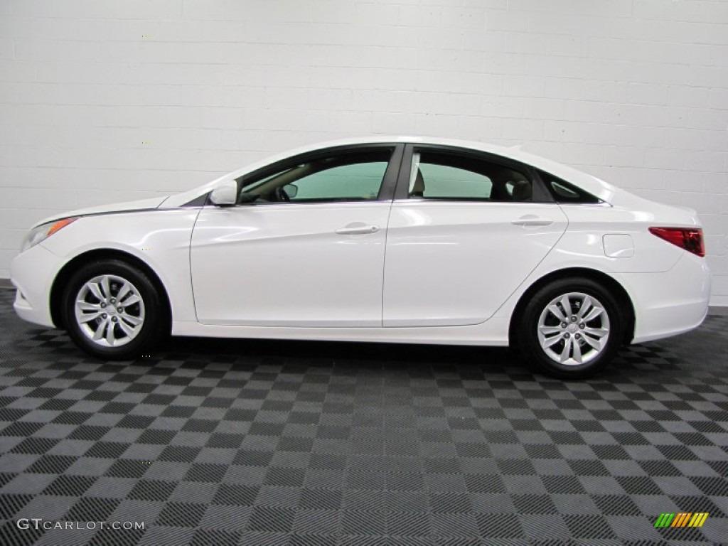 Pearl White 2011 Hyundai Sonata Gls Exterior Photo 69630961 Gtcarlot Com