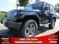 2012 True Blue Pearl Jeep Wrangler Oscar Mike Freedom Edition 4x4  photo #1
