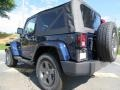 2012 True Blue Pearl Jeep Wrangler Oscar Mike Freedom Edition 4x4  photo #2