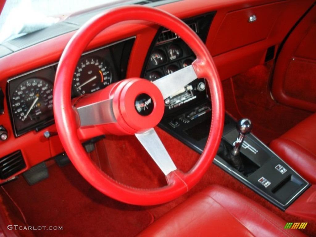 red interior 1979 chevrolet corvette coupe photo 69644350