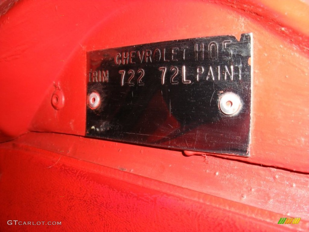 1979 Corvette Color Code 72 For Red Photo 69644377
