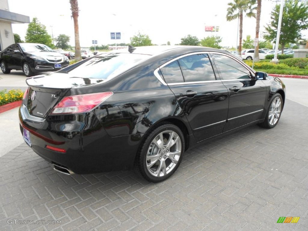 crystal black pearl 2012 acura tl 3 7 sh awd advance exterior photo 69653897. Black Bedroom Furniture Sets. Home Design Ideas