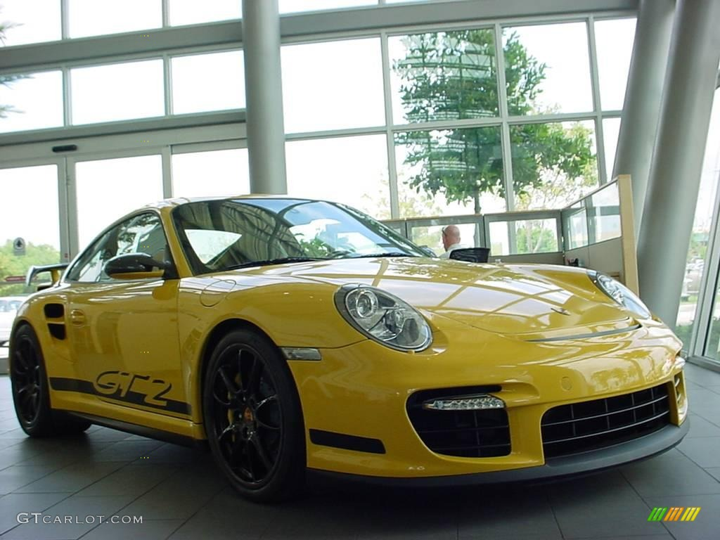 2008 speed yellow porsche 911 gt2 6954658 car color galleries. Black Bedroom Furniture Sets. Home Design Ideas