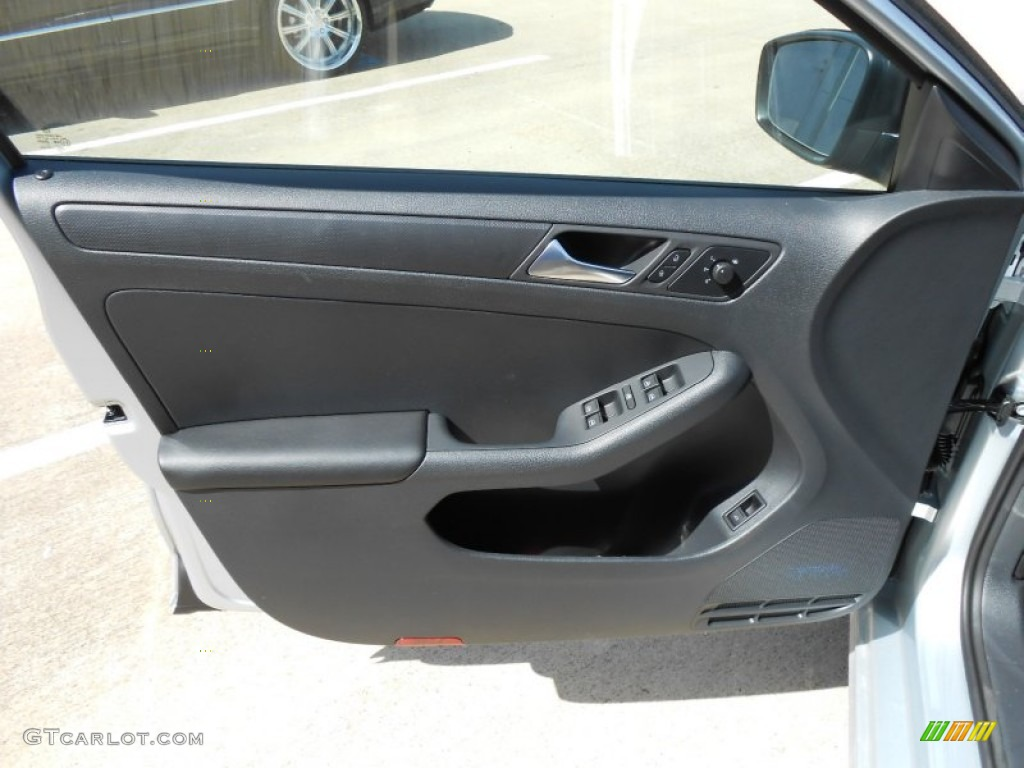 2013 Volkswagen Jetta S Sedan Titan Black Door Panel Photo 69680409