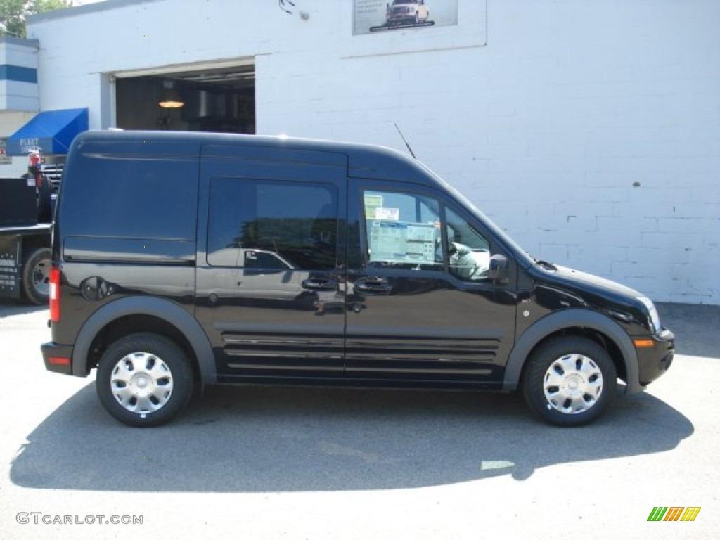 2012 transit connect xlt wagon panther black metallic dark grey photo 1