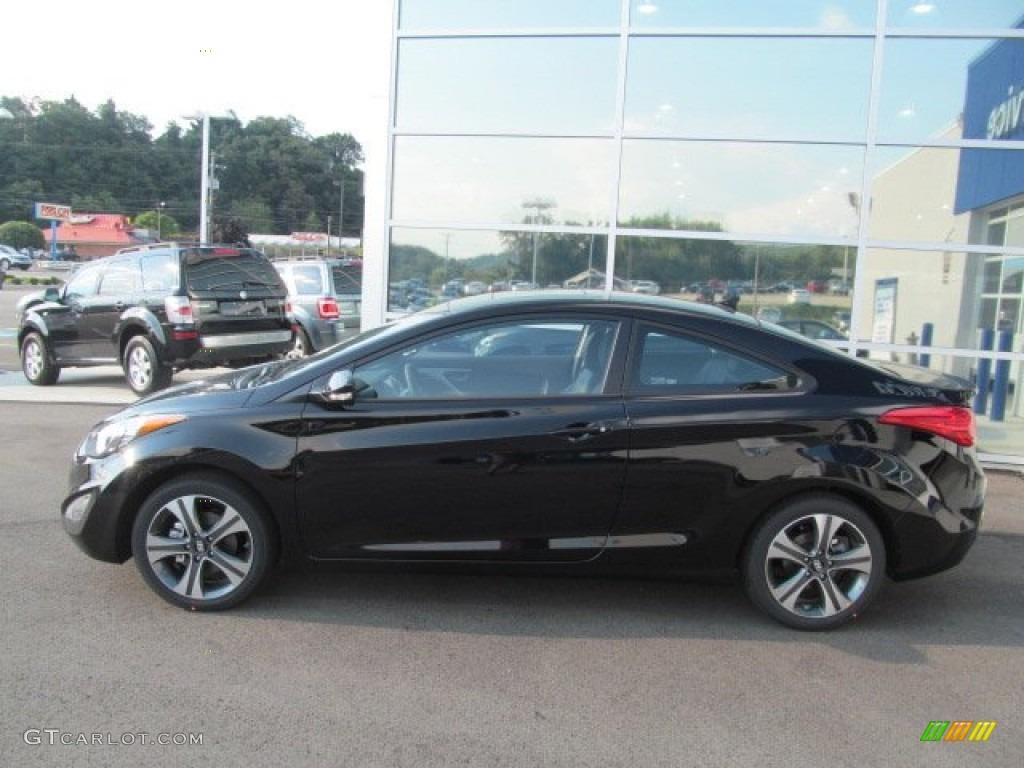 Black Noir Pearl 2013 Hyundai Elantra Coupe Se Exterior