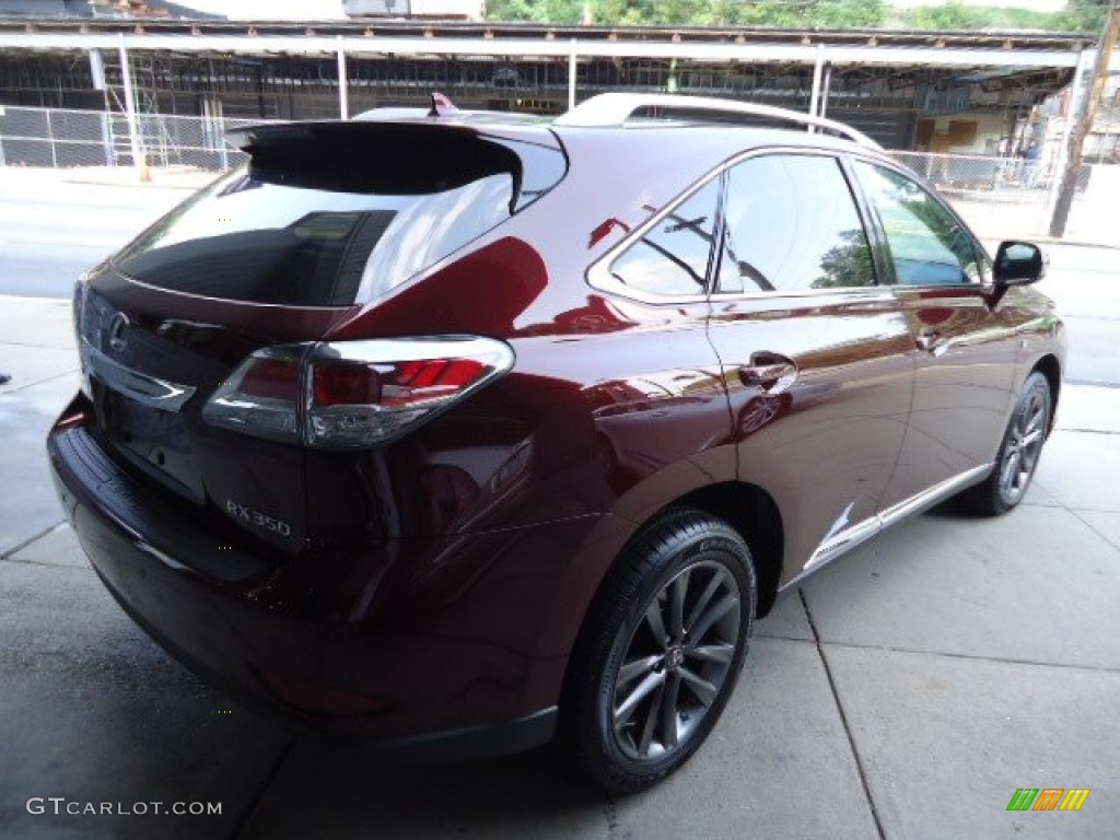 2013 Claret Red Mica Lexus Rx 350 F Sport Awd 69657793 Photo 4 Car Color