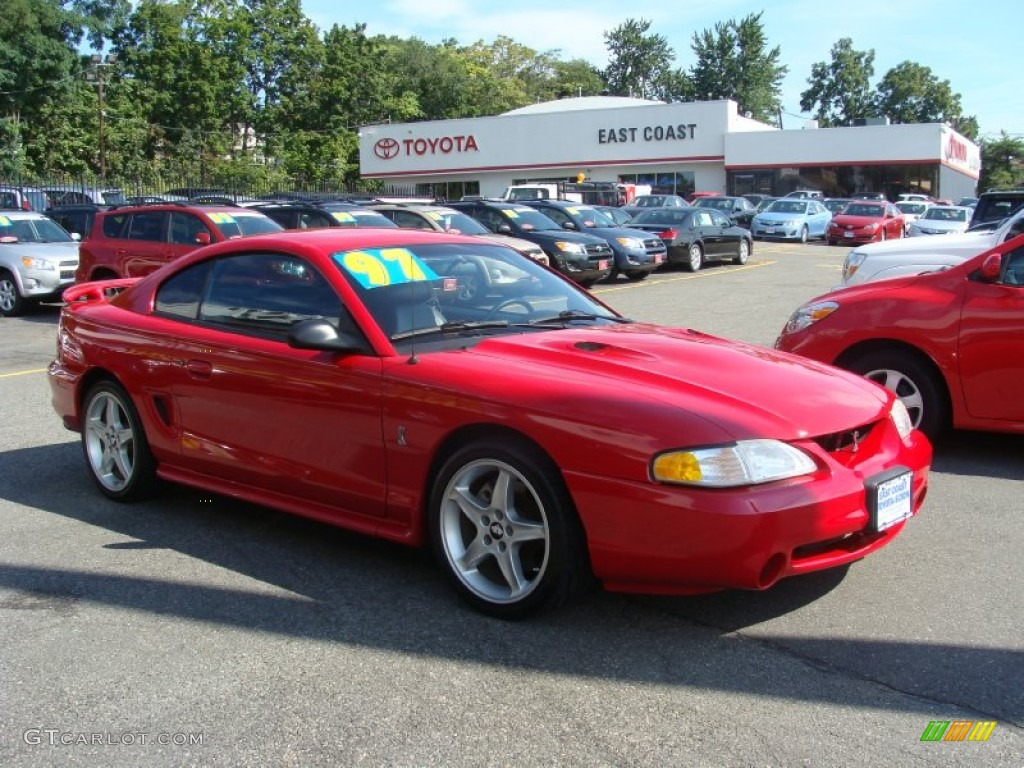 1992 Bright Red Ford Mustang Cobra Coupe 69657766