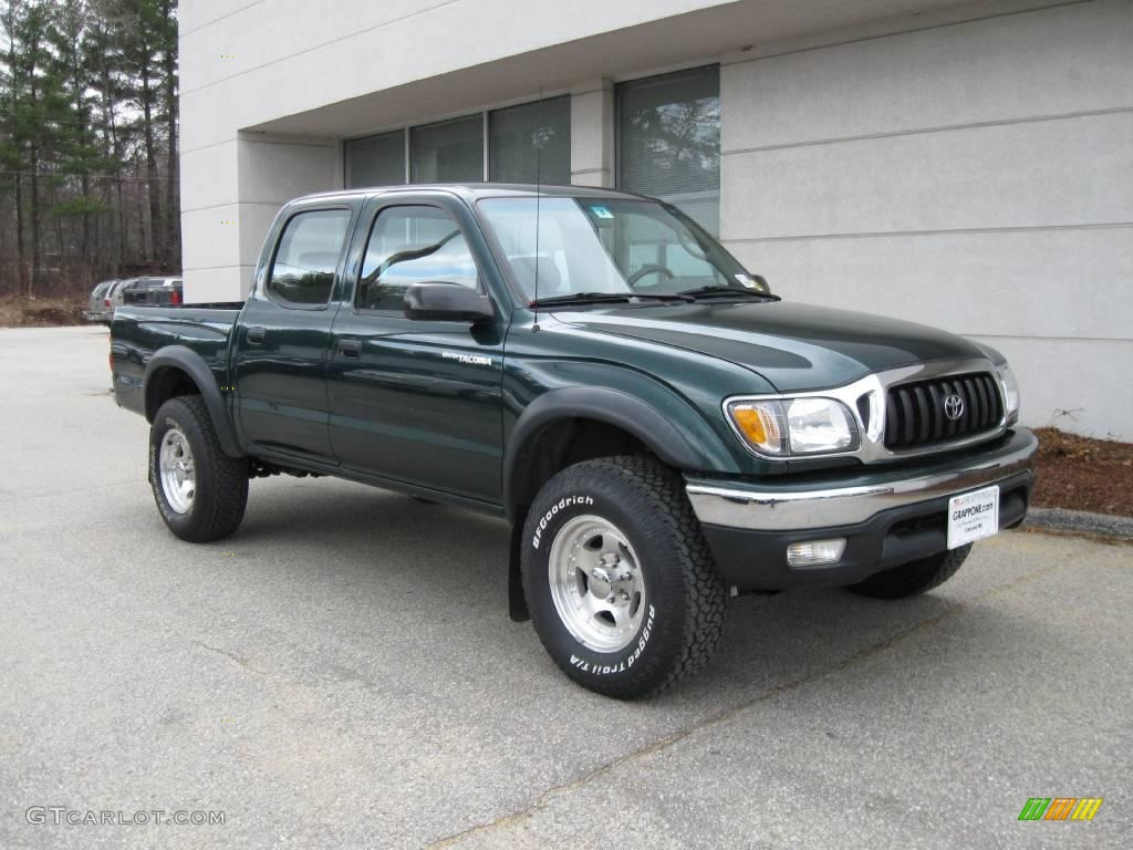2002 Imperial Jade Green Mica Toyota Tacoma V6 Double Cab
