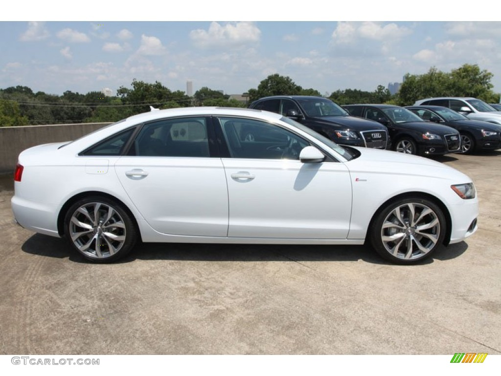 Glacier White Metallic 2013 Audi A6 3 0t Quattro Sedan