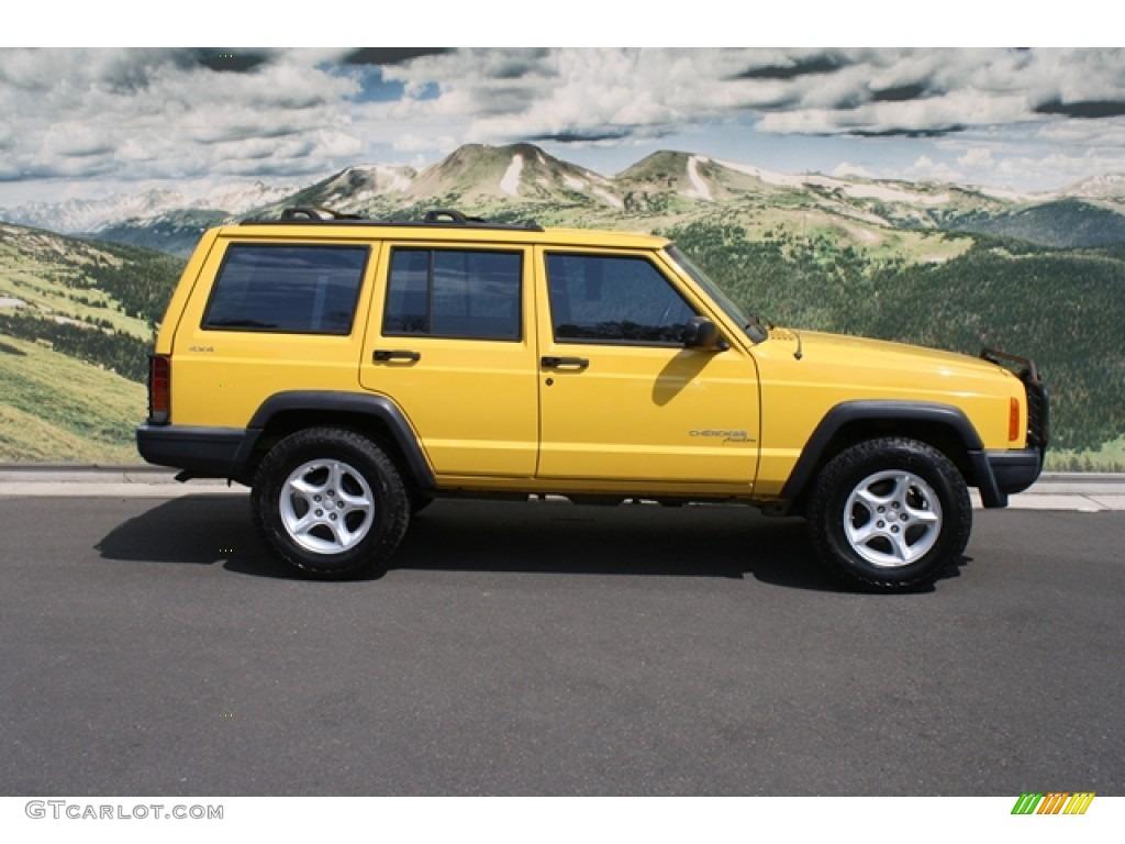 2000 Solar Yellow Jeep Cherokee Sport 4x4 #69727539 Photo #2 ...