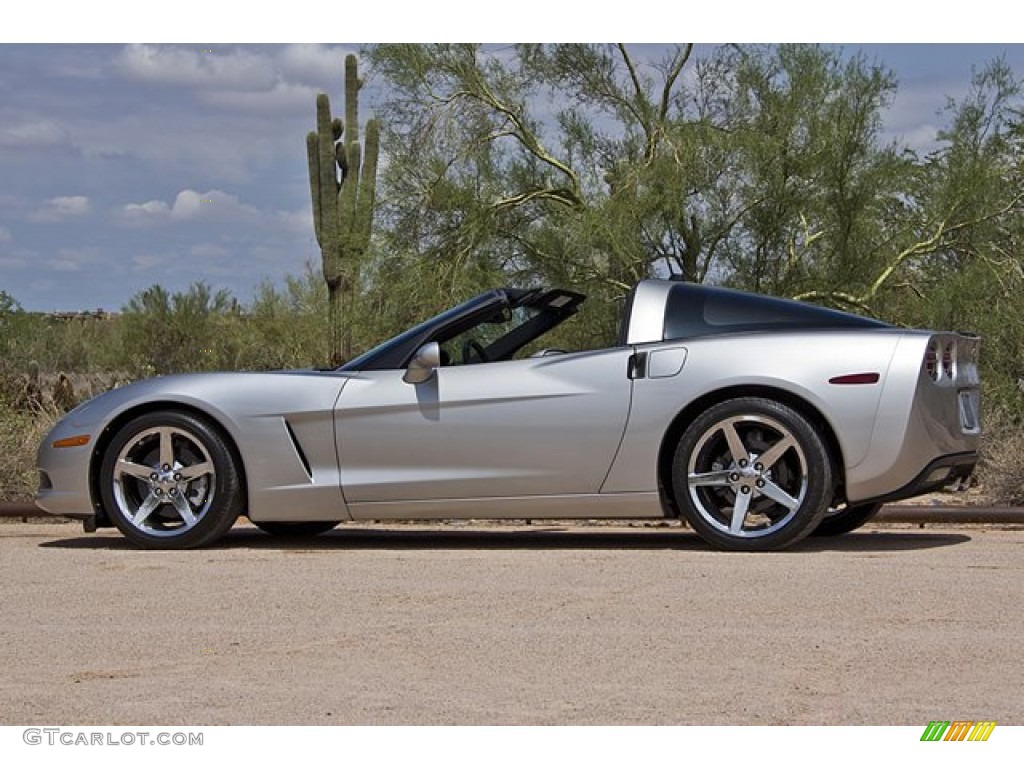 Machine Silver 2005 Chevrolet Corvette Coupe Exterior