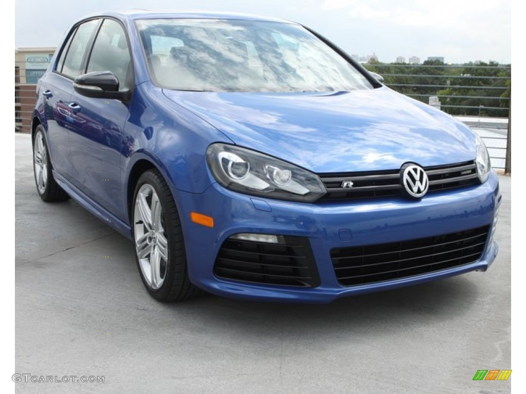 2013 rising blue metallic volkswagen golf r 4 door 4motion. Black Bedroom Furniture Sets. Home Design Ideas