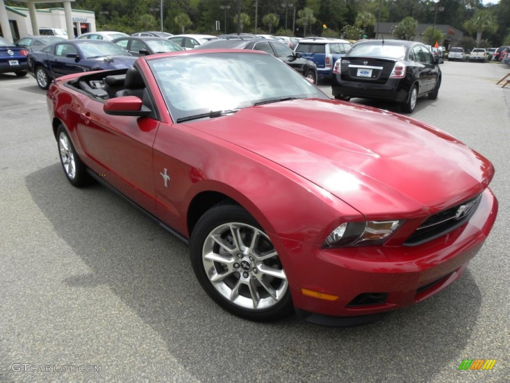 2011 Mustang V6 Premium Convertible - Red Candy Metallic / Charcoal Black photo #1