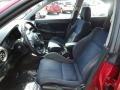 2003 Subaru Impreza Black Interior Front Seat Photo