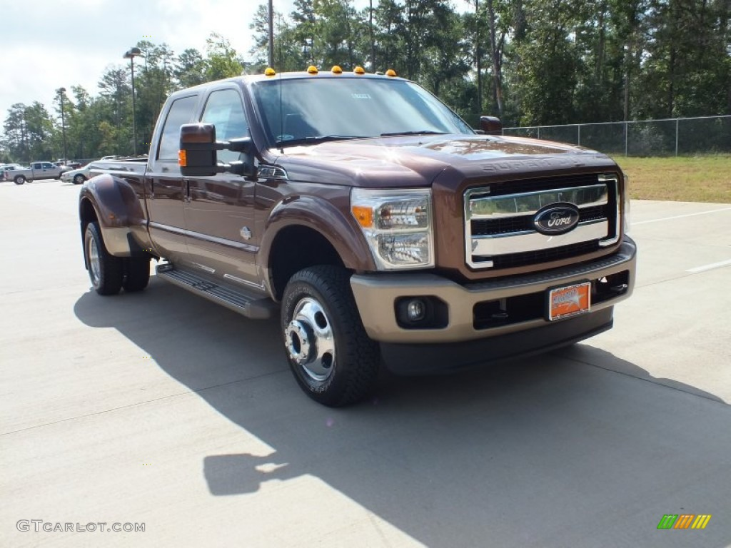 2012 golden bronze metallic ford f350 super duty king ranch crew cab 4x4 dually 69841895. Black Bedroom Furniture Sets. Home Design Ideas