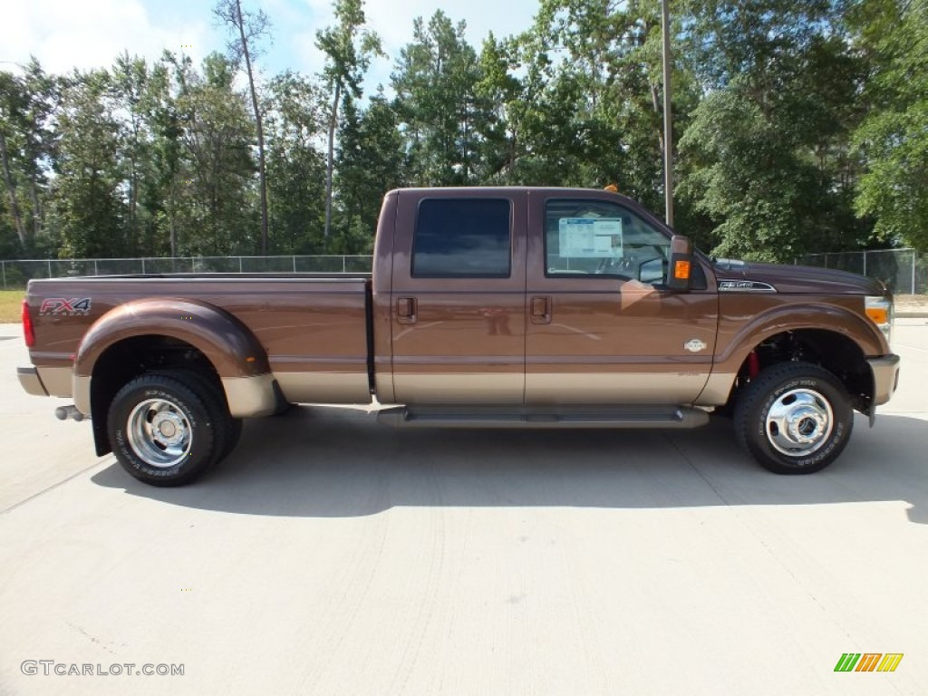 golden bronze metallic 2012 ford f350 super duty king ranch crew cab 4x4 dually exterior photo. Black Bedroom Furniture Sets. Home Design Ideas