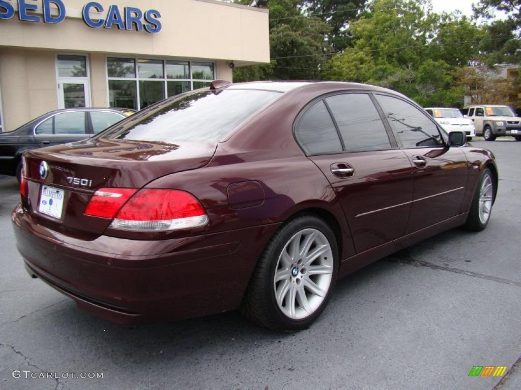 barbera red metallic 2006 bmw 7 series 750i sedan exterior. Black Bedroom Furniture Sets. Home Design Ideas