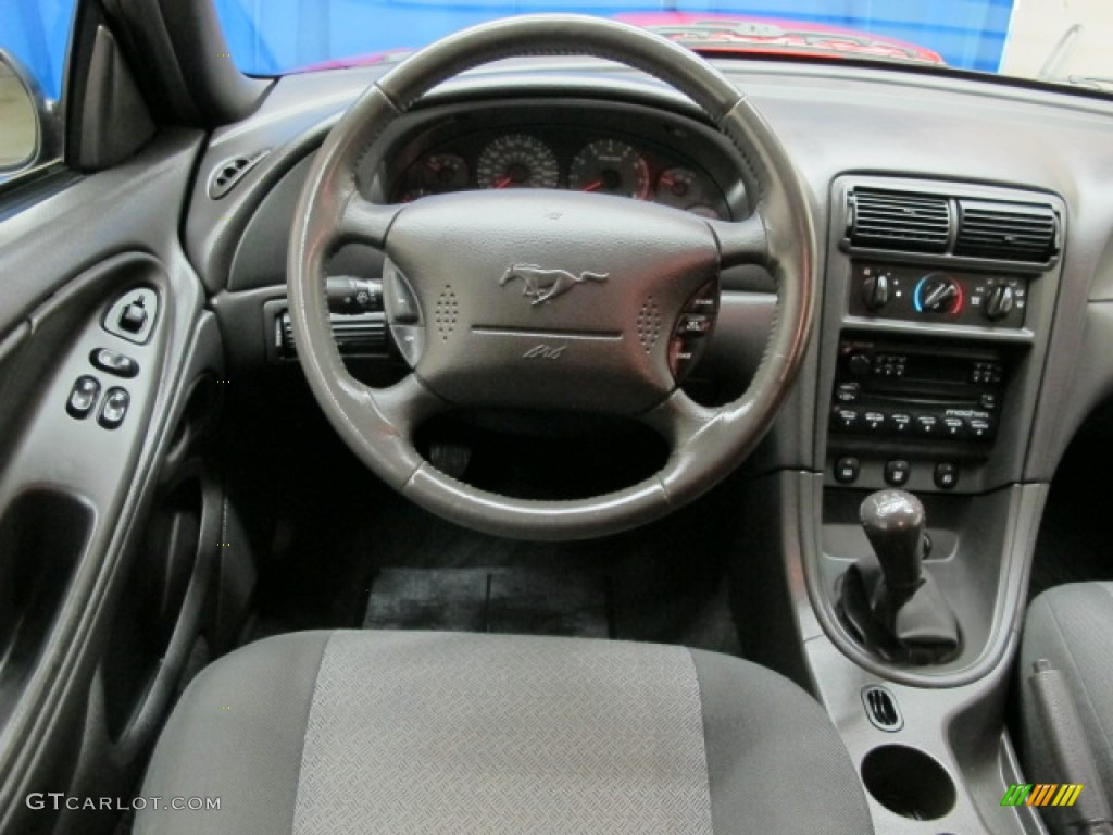 2002 Ford Mustang GT Coupe Dark Charcoal Steering Wheel Photo #69888022