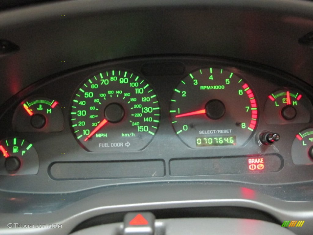 2002 Ford Mustang GT Coupe Gauges Photo #69888049