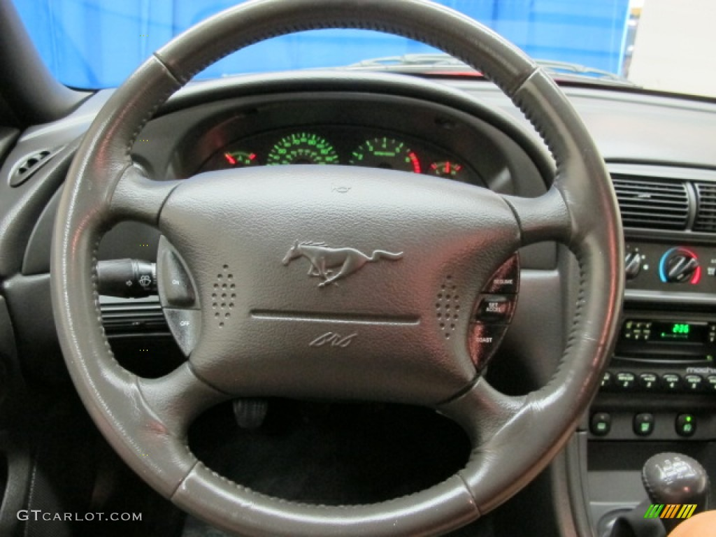 2002 Ford Mustang GT Coupe Dark Charcoal Steering Wheel Photo #69888084
