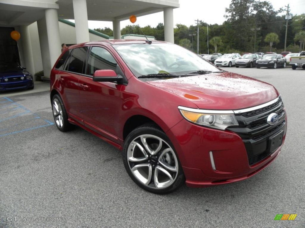 ruby red 2013 ford edge sport exterior photo 69889045. Black Bedroom Furniture Sets. Home Design Ideas