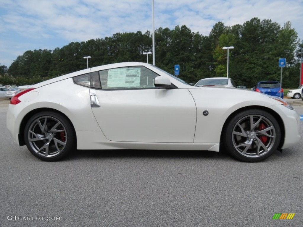 Pearl White 2013 Nissan 370z Sport Coupe Exterior Photo