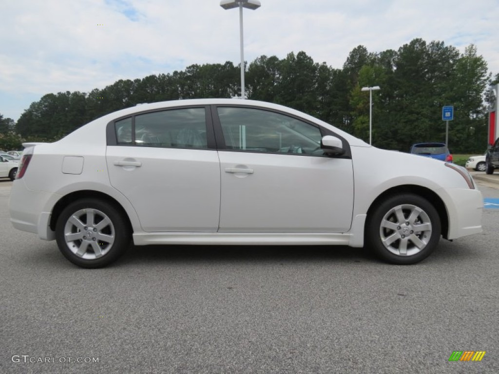 aspen white 2012 nissan sentra 2 0 sr exterior photo. Black Bedroom Furniture Sets. Home Design Ideas