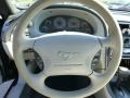1999 Ford Mustang Light Graphite Interior Steering Wheel Photo