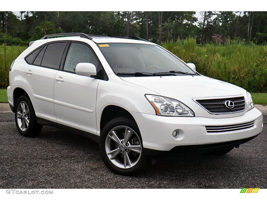 crystal white pearl 2006 lexus rx 400h hybrid exterior. Black Bedroom Furniture Sets. Home Design Ideas