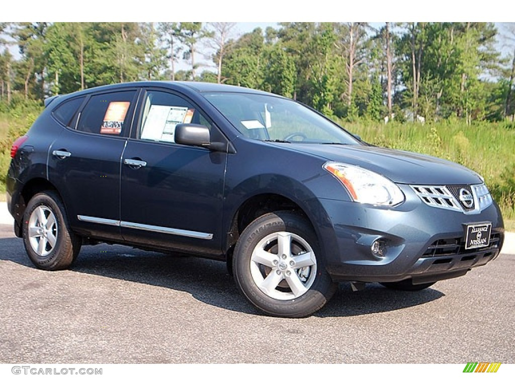 2012 Graphite Blue Nissan Rogue S Special Edition Awd