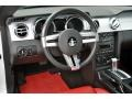 Red/Dark Charcoal 2006 Ford Mustang GT Premium Coupe Dashboard