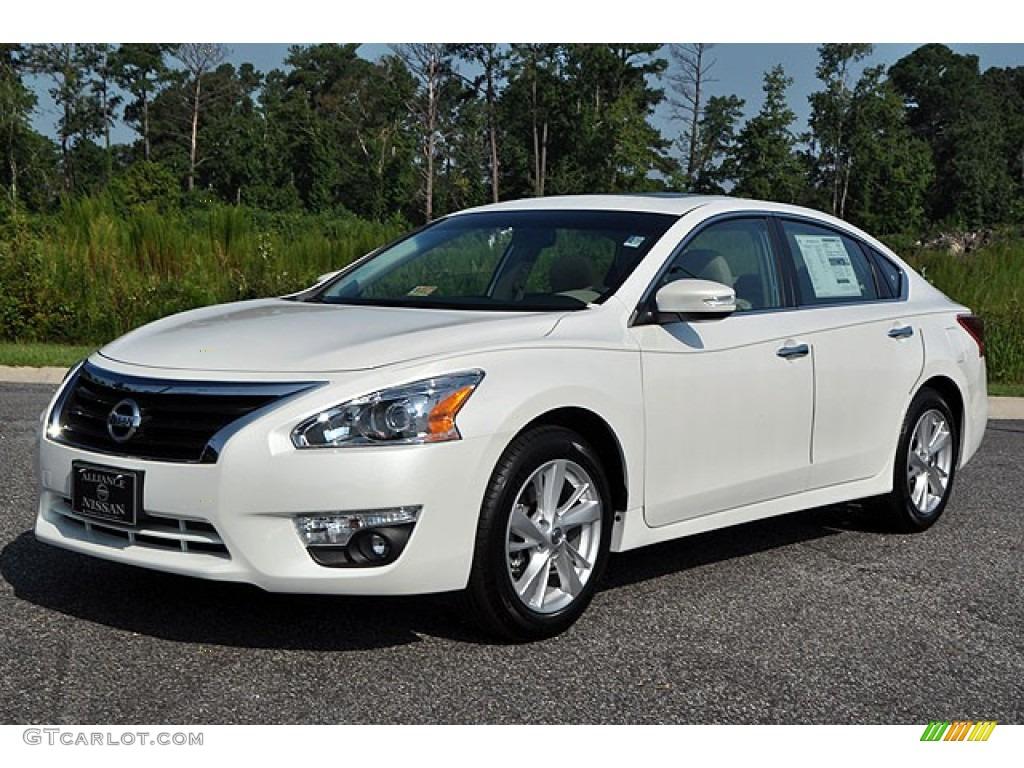 2013 Pearl White Nissan Altima 2 5 Sv 69905294 Gtcarlot