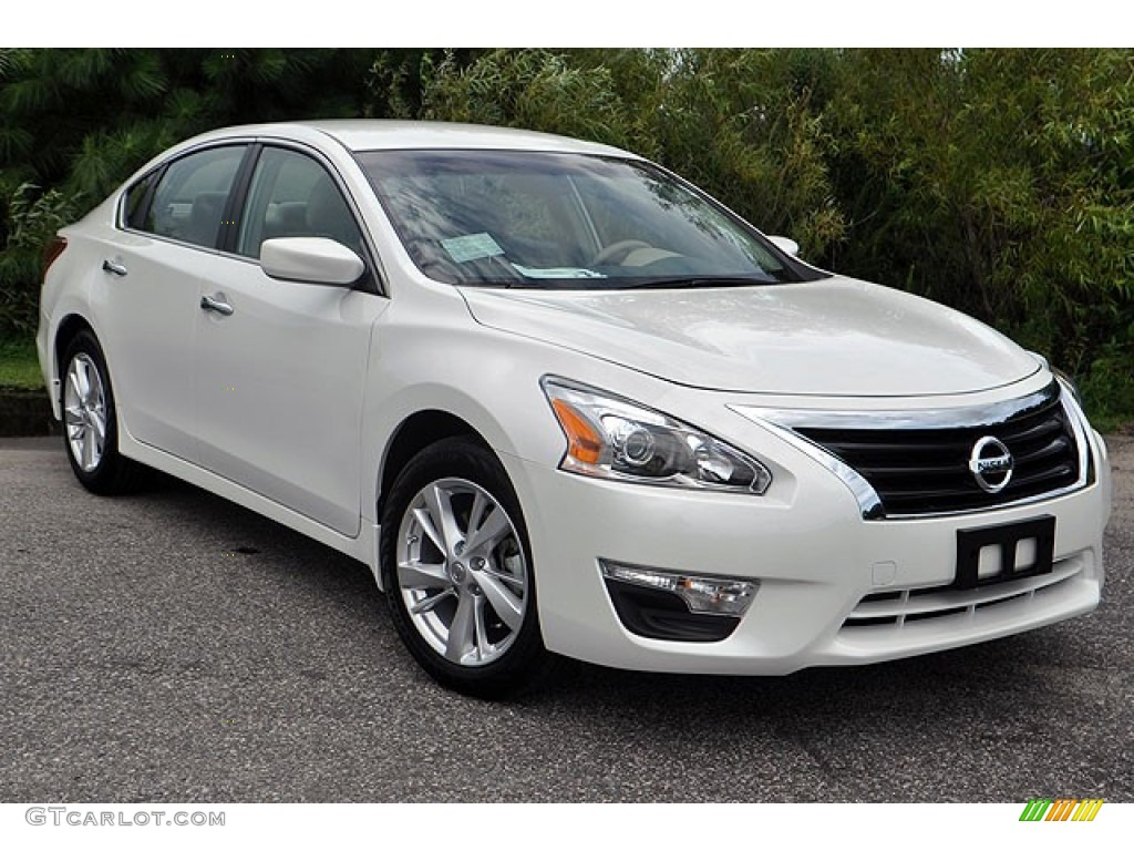 Pearl White 2013 Nissan Altima 2 5 Sv Exterior Photo